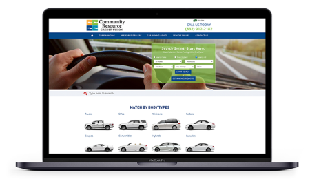 member auto center mockup on laptop