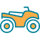 yellow atv icon
