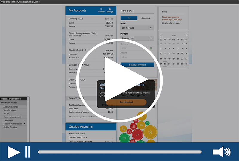 Online Banking demo video